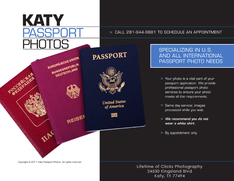 Katy, TX Passport Photos
